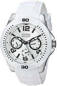 ゲス GUESS 腕時計 メンズ GUESS Men's Japanese-Quartz Watch with Stainless-Steel Strap, White, 22 (Model: U0967G3)ゲス GUESS 腕時計 メンズ