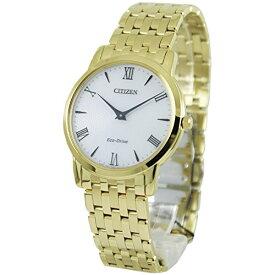 シチズン 逆輸入 海外モデル 海外限定 アメリカ直輸入 Citizen Stiletto Stainless Steel White Dial Gold Quartz Men's Watch AR1122-54Aシチズン 逆輸入 海外モデル 海外限定 アメリカ直輸入