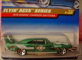 ホットウィール マテル ミニカー ホットウイール 【送料無料】Hot Wheels Mattel 1998 1:64 Scale Flyin Aces Series Green 1970 Dodge Charger Daytona Die Cast Car 1/4ホットウィール マテル ミニカー ホットウイール