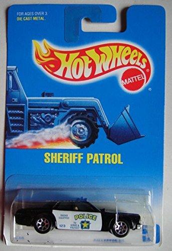 ホットウィール マテル ミニカー ホットウイール HOT WHEELS BLACK SHERIFF PATROL #59 7 SPOKE SQUARE BLUE/WHITE CARDホットウィール マテル ミニカー ホットウイール