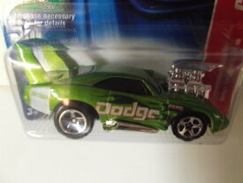 ホットウィール マテル ミニカー ホットウイール 【送料無料】Hot Wheels Green 69 1969 Dodge Charger Daytona Code Car 1 of 24 2006ホットウィール マテル ミニカー ホットウイール