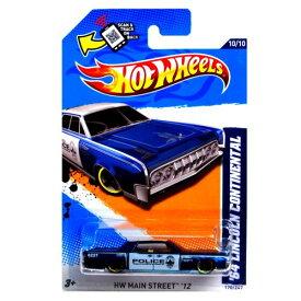 ホットウィール マテル ミニカー ホットウイール 【送料無料】Hot Wheels 2012 HW Main Street '12 10/10 '64 Lincoln Continental 170/247 Blue and White Austin Police Scan & Track Cardホットウィール マテル ミニカー ホットウイール