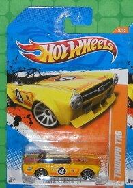 ホットウィール マテル ミニカー ホットウイール 2011 Hot Wheels (70/244) - Track Stars '11 (5/15) - Triumph TR6 (Yellow)ホットウィール マテル ミニカー ホットウイール
