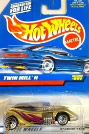 ホットウィール マテル ミニカー ホットウイール 【送料無料】Mattel Hot Wheels 1998 1:64 Scale Gold Twin Mill II Die Cast Car Collector #861ホットウィール マテル ミニカー ホットウイール