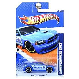 ホットウィール マテル ミニカー ホットウイール 【送料無料】Hot Wheels 2011 HW City Works - Blue Police Dodge Charger SRT8, 110/214ホットウィール マテル ミニカー ホットウイール