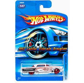 ホットウィール マテル ミニカー ホットウイール 【送料無料】Mattel Hot Wheels 2005 1:64 Scale White & Black 1957 Cadillac Eldorado Brougham Police Car Die Cast #147ホットウィール マテル ミニカー ホットウイール