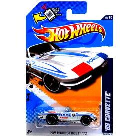 """ホットウィール マテル ミニカー ホットウイール 【送料無料】Hot Wheels - '65 Corvette (White """"Police"""") - HW Main Street 12 - 6/10 ~ 166/247 [Scale 1:64]ホットウィール マテル ミニカー ホットウイール"""