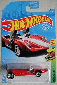 ホットウィール マテル ミニカー ホットウイール 【送料無料】Hot Wheels Exotics 3/10, RED Twin Mill 74/365 50TH Anniversary Cardホットウィール マテル ミニカー ホットウイール