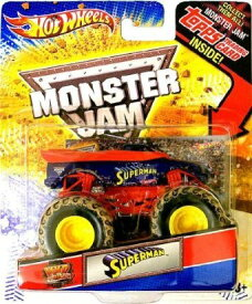 ホットウィール マテル ミニカー ホットウイール 【送料無料】Toy / Game Hot Wheels 2012 Monster Jam, Superman Mud Trucks with Topps Trading Card. 1:64 Scale Die Cast by 4KIDSホットウィール マテル ミニカー ホットウイール