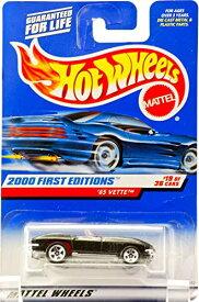 ホットウィール マテル ミニカー ホットウイール 【送料無料】Hot Wheels 2000 - Mattel 65 Vette Convertible - Metallic Black - Red Interior - 5 Spoke Wheels - #19 of 36 - New - Out of Production - Limitホットウィール マテル ミニカー ホットウイール