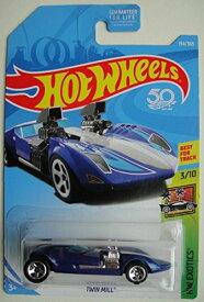 ホットウィール マテル ミニカー ホットウイール 【送料無料】Hot Wheels EXOTICS 3/10, DARK BLUE TWIN MILL 194/365 50TH ANNIVERSARY CARDホットウィール マテル ミニカー ホットウイール