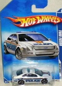 ホットウィール マテル ミニカー ホットウイール 【送料無料】Hot Wheels 2010-109 Ford Fusion Police Car HW City Works #3 of 10 WHITE 1:64 Scaleホットウィール マテル ミニカー ホットウイール