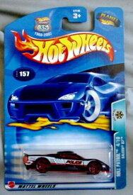 ホットウィール マテル ミニカー ホットウイール 【送料無料】Hot Wheels 2003 Roll Patrol Saleen S7 4/10 #157 BLACK Police 1:64 Scaleホットウィール マテル ミニカー ホットウイール