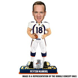ボブルヘッド バブルヘッド 首振り人形 ボビンヘッド BOBBLEHEAD FOCO NFL Denver Broncos Peyton Manning #18 Super Bowl 50 Champions Bobble Head Toy, One Size, Whiteボブルヘッド バブルヘッド 首振り人形 ボビンヘッド BOBBLEHEAD