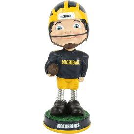 ボブルヘッド バブルヘッド 首振り人形 ボビンヘッド BOBBLEHEAD Forever Collectibles Michigan Wolverines Michigan Wolverines Retro Springy Legs Bobbleheadボブルヘッド バブルヘッド 首振り人形 ボビンヘッド BOBBLEHEAD