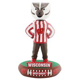 ボブルヘッド バブルヘッド 首振り人形 ボビンヘッド BOBBLEHEAD FOCO NCAA Wisconsin Badgers Mascot Baller Bobble, Team Color, OSボブルヘッド バブルヘッド 首振り人形 ボビンヘッド BOBBLEHEAD