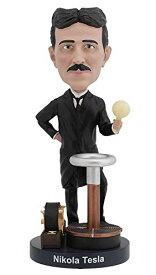 【送料無料】ロイヤルボブルズ Royal Bobbles ニコラ・テスラ Nikola Tesla ボブルヘッド 人形と暗闇で光る電球 発明家