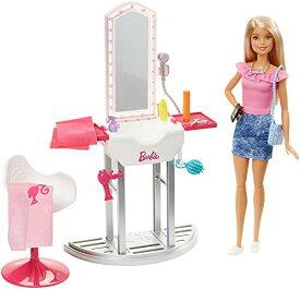 9548e585b3e バービー バービー人形 日本未発売 プレイセット アクセサリ Barbie Salon & Doll, Blondeバービー
