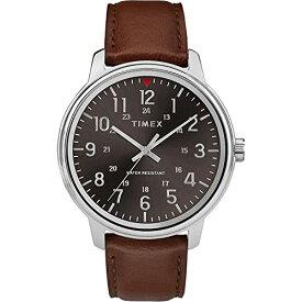 腕時計 タイメックス メンズ 【送料無料】Timex Men's TW2R85700 Classic 43mm Tan/Black Leather Strap Watch腕時計 タイメックス メンズ