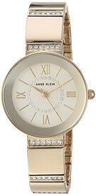 アンクライン 腕時計 レディース 【送料無料】Anne Klein Women's AK/3190CHGB Swarovski Crystal Accented Gold-Tone Bracelet Watchアンクライン 腕時計 レディース
