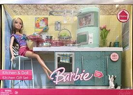 バービー バービー人形 日本未発売 プレイセット アクセサリ 【送料無料】Barbie Kitchen Doll Kitchen Gift Set 30+ Pieces Playset w Doll, Counter has Cabinets & Built-in Oven, Microwave Oven, バービー バービー人形 日本未発売 プレイセット アクセサリ
