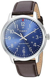 腕時計 タイメックス メンズ 【送料無料】Timex Men's TW2R85400 Classic 43mm Brown/Blue Leather Strap Watch腕時計 タイメックス メンズ