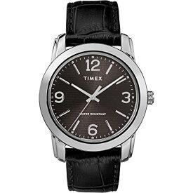腕時計 タイメックス メンズ 【送料無料】Timex Men's TW2R86600 Classic 39mm Black/Silver-Tone Croco Pattern Leather Strap Watch腕時計 タイメックス メンズ
