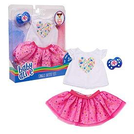 ベビーアライブ 赤ちゃん おままごと ベビー人形 【送料無料】Baby Alive Single Outfit Set, White Tee Pink Tutuベビーアライブ 赤ちゃん おままごと ベビー人形