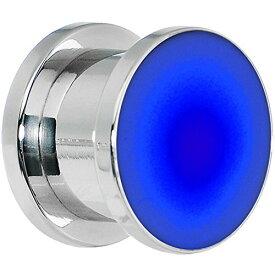 """ボディキャンディー ボディピアス アメリカ 日本未発売 ウォレット Body Candy 1/2"""" Stainless Steel Blue LED Light Up Screw Fit Ear Gauge Plug (1 Piece)ボディキャンディー ボディピアス アメリカ 日本未発売 ウォレット"""