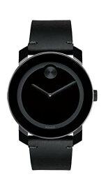 腕時計 モバード メンズ 【送料無料】Movado Men's BOLD TR90 Watch with a Sunray Dot and Leather Strap, Black (Model 3600306)腕時計 モバード メンズ