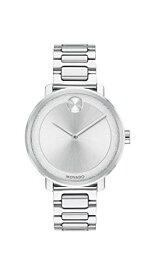 腕時計 モバード レディース 【送料無料】Movado Women's BOLD Sugar Dial Stainless Steel Watch with a Flat Dot, Silver (3600501)腕時計 モバード レディース