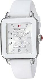 腕時計 ミッシェル レディース ミシェル 【送料無料】MICHELE Women's Stainless Steel Swiss-Quartz Watch with Rubber Strap, White, 18 (Model: MWW06K000004)腕時計 ミッシェル レディース ミシェル