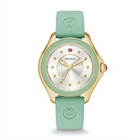腕時計 ミッシェル レディース ミシェル 【送料無料】MICHELE Women's 'Cape' Quartz Stainless Steel and Silicone Dress Watch, Color:Green (Model: MWW27A000018)腕時計 ミッシェル レディース ミシェル