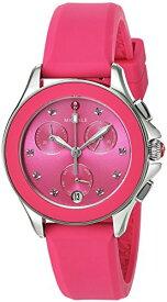 腕時計 ミッシェル レディース ミシェル 【送料無料】MICHELE Women's Cape Topaz Stainless Steel Quartz Watch with Silicone Strap, Pink, 16 (Model: MWW27C000010)腕時計 ミッシェル レディース ミシェル