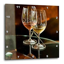 """壁掛け時計 インテリア 海外モデル アメリカ 輸入 3dRose USA, Washington, Walla Glasses of Wine at Winery Release Party Wall Clock, 15"""" x 15""""壁掛け時計 インテリア 海外モデル アメリカ 輸入"""