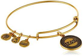 """アレックスアンドアニ アメリカ アクセサリー ブランド かわいい Alex and Ani """"Sorority"""" Kappa Alpha Theta Expandable Rafaelian Gold-Tone Wire Bangle Bracelet, 2.4""""アレックスアンドアニ アメリカ アクセサリー ブランド かわいい"""
