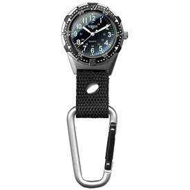 腕時計 ダコタ カラビナウォッチ クリップ時計 【送料無料】Dakota Watch Company Men's Aluminum Backpacker Clip Watch, Black (28446)腕時計 ダコタ カラビナウォッチ クリップ時計