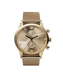 腕時計 トリワ メンズ 北欧 ヨーロッパ 【送料無料】Triwa Unisex LCST109 Sort of Black Gold Chrono Watch with Gold Mesh Band腕時計 トリワ メンズ 北欧 ヨーロッパ