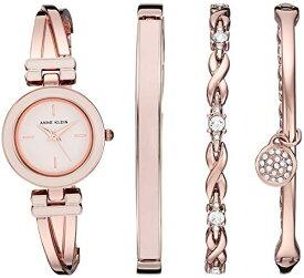 腕時計 アンクライン レディース 【送料無料】Anne Klein Women's AK/3284LPST Blush Pink and Rose Gold-Tone Bangle Watch and Swarovski Crystal Accented Bracelet Set腕時計 アンクライン レディース