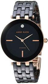 アンクライン 腕時計 レディース 【送料無料】Anne Klein Women's AK/3310BKRG Diamond-Accented Rose Gold-Tone and Black Ceramic Bracelet Watchアンクライン 腕時計 レディース