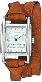 ラメールコレクションズ 腕時計 レディース La Mer Collections Women's Japanese-Quartz Watch with Leather Calfskin Strap, Brown, 7.9 (Model: LMMILWOOD011)ラメールコレクションズ 腕時計 レディース