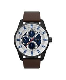 腕時計 ポリス メンズ 【送料無料】Police Mens Multi dial Quartz Watch with Leather Strap PL.15409JSB/04腕時計 ポリス メンズ