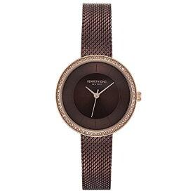 ケネスコール・ニューヨーク Kenneth Cole New York 腕時計 レディース 【送料無料】Kenneth Cole New York Women's Analog Quartz Stainless Steel Casual Watch(KC50198004/03), Brownケネスコール・ニューヨーク Kenneth Cole New York 腕時計 レディース