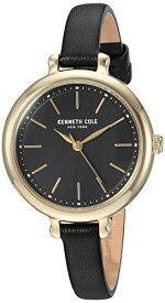 ケネスコール・ニューヨーク Kenneth Cole New York 腕時計 レディース 【送料無料】Kenneth Cole New York Women's Stainless Steel Analog-Quartz Watch with Leather Strap, Black, 8 (Moケネスコール・ニューヨーク Kenneth Cole New York 腕時計 レディース