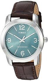 腕時計 タイメックス メンズ 【送料無料】Timex Men's TW2R86900 Classic 39mm Brown/Silver-Tone/Green Croco Pattern Leather Strap Watch腕時計 タイメックス メンズ