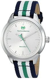 テクノマリーン 腕時計 レディース Technomarine Women's MoonSun Stainless Steel Quartz Watch with Nylon Strap, Blue, 18 (Model: TM-117005)テクノマリーン 腕時計 レディース