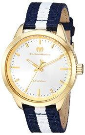 テクノマリーン 腕時計 レディース Technomarine Women's MoonSun Stainless Steel Quartz Watch with Nylon Strap, Blue, 18 (Model: TM-117006)テクノマリーン 腕時計 レディース