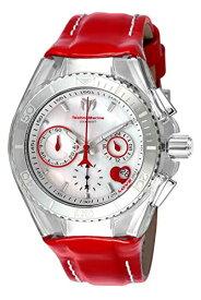 テクノマリーン 腕時計 レディース Technomarine Women's Cruise Stainless Steel Quartz Watch with Leather Calfskin Strap, red, 26 (Model: TM-115312)テクノマリーン 腕時計 レディース