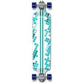 ロングスケートボード スケボー 海外モデル 直輸入 Dropdown-WhiteDigitalW 【送料無料】Yocaher Professinal Speed Drop Down Complete Longboard Skateboard (White Digital Wave)ロングスケートボード スケボー 海外モデル 直輸入 Dropdown-WhiteDigitalW