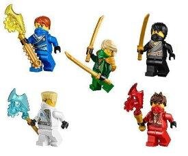 レゴ ニンジャゴー 【送料無料】LEGO Ninjago Ninja's Set of 5 - Lloyd, Cole, Jay, Kai, Zane Techno Robesレゴ ニンジャゴー